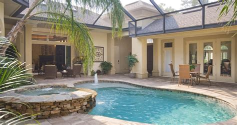 florida house plans with courtyard pool team gainesville indoor outdoor living in a courtyard
