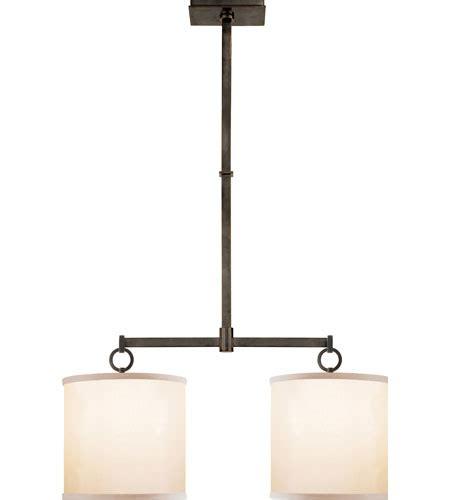 Visual Comfort Island Light Visual Comfort Bbl5035bz S Barbara Barry Cuff 2 Light 34 Inch Bronze Linear Pendant