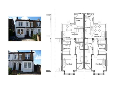 home layout ideas uk semi detached house layout plan home deco plans