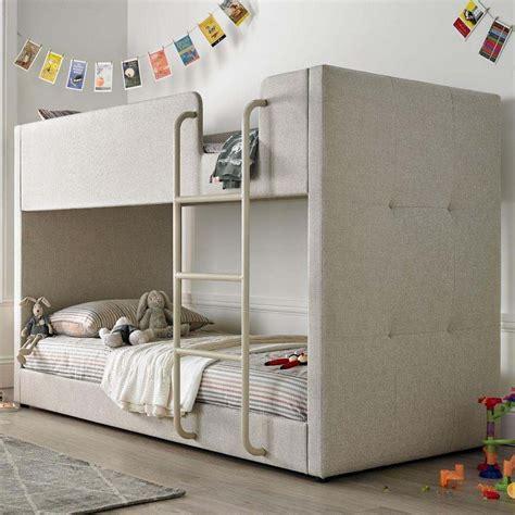 Saturn Oatmeal Fabric Bunk Bed Bunk Beds And Mattress