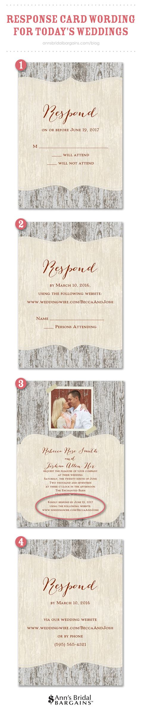 Wedding Card Options by Response Card Wording Exles For Rsvps