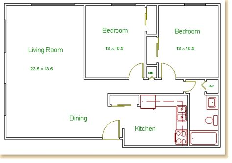 two bedroom floor plan hilldale towers floor plans