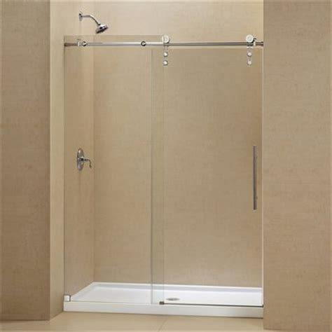 Dreamline Frameless Sliding Shower Door Dreamline Dl 662 Enigma Z Fully Frameless Sliding Shower Door And Slimline Single Threshold