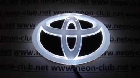 Led Toyota Emblem Tuning Auto Accessories Car Decal 4d Toyota Emblem Led
