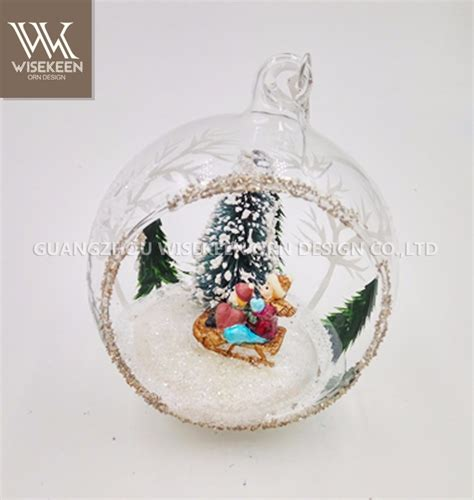 best selling hand blown open glass ornaments christmas