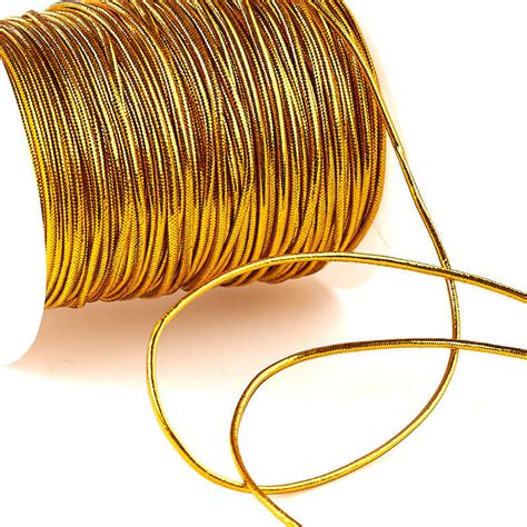 Supplies For String - gold metallic elastic cord wire rope string basic