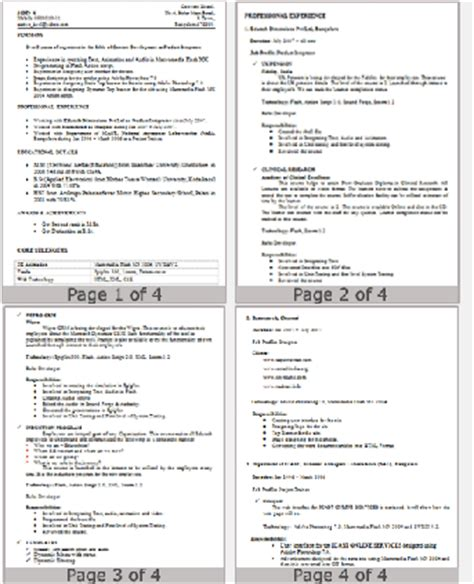 cv writing tutorial considering length format and