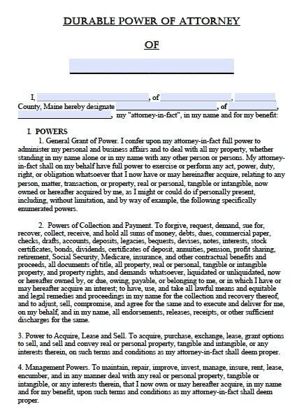 Free Printable Durable Power Of Attorney Template Template Business Idea Alabama Durable Power Of Attorney Template