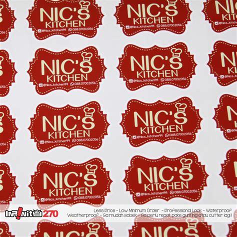 Sticker Stiker Packaging Tempelan Perekat Packing Packing Bungkus stiker makanan kamos sticker
