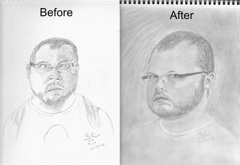 bett zeichnung self portrait before n after by mvision on deviantart