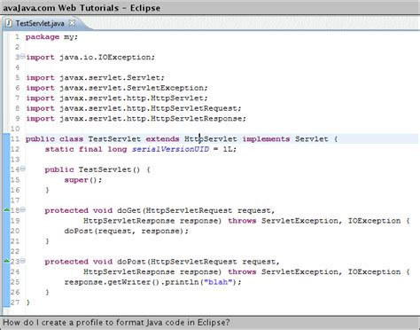 format file java how do i create a profile to format java code in eclipse