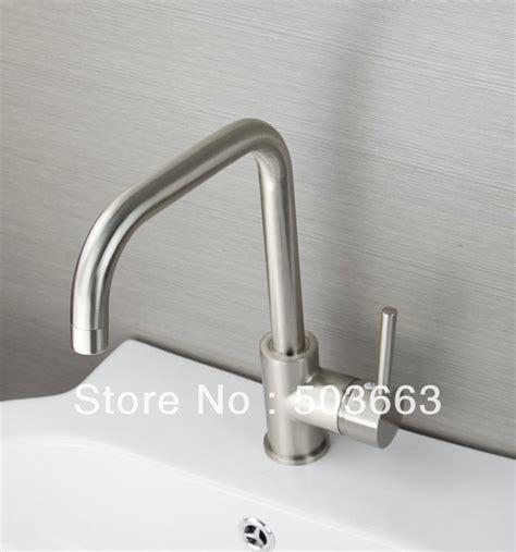 new nickel brushed single handle kitchen sink brass mixer