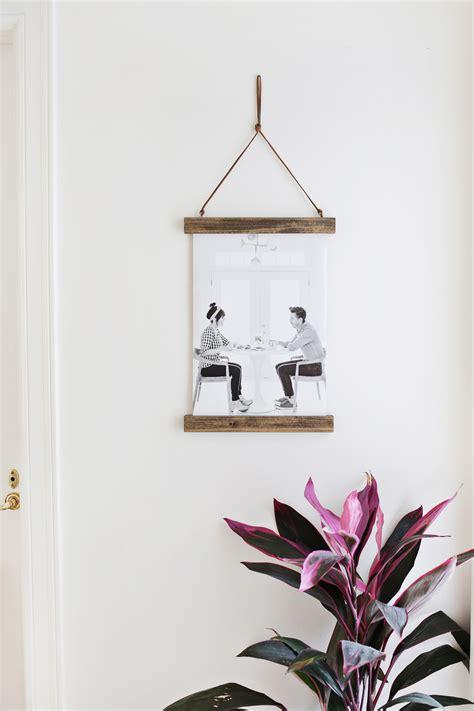 hanging prints diy poster hanger a beautiful mess