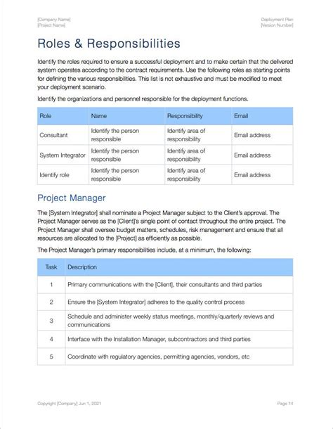software deployment document template deployment plan apple iwork pages numbers