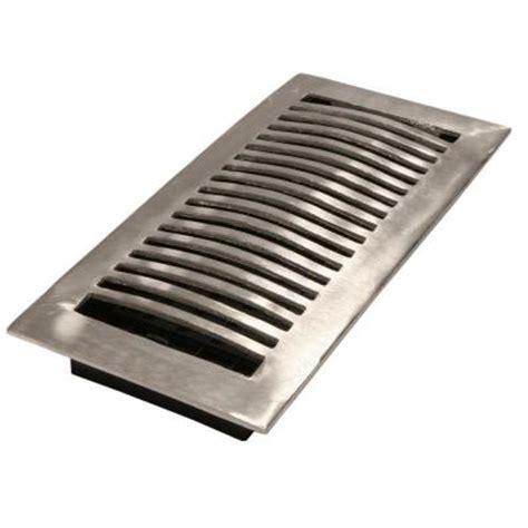 brushed aluminum floor register la nkl  home depot