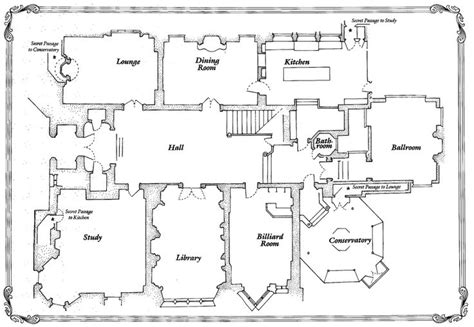 Clue Mansion Floor Plan | 1000 images about house plans on pinterest friends