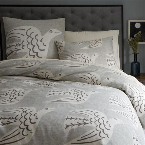 comforter with birds cubist bird duvet cover shams west elm