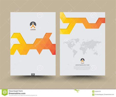 annual report cover design stock vector image 55991976