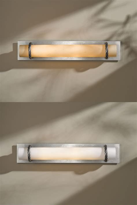 hubbardton forge bathroom lighting hubbardton forge 205960 cavo vintage platinum finish 4 5