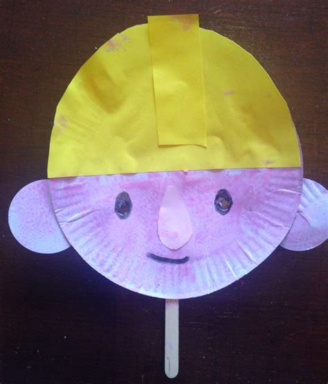 Paper Craft Minieco A Craft by Paper Plate Bob The Builder Mask Building Craft
