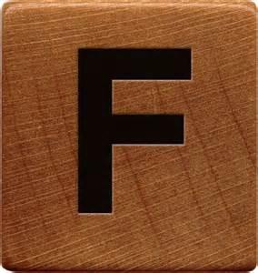 presentation alphabets wooden game tile f