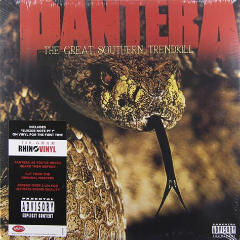 Trend Kill by Pantera The Great Southern Trendkill 2 Lp 180 Gr