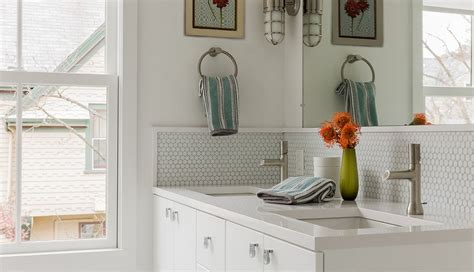 bathroom modern tile ideas backsplash:  penny tile designs that look like a million bucks