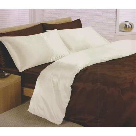 Duvet Cover Sheet Charisma Satin Reversible Bedding Set Duvet Cover Fitted