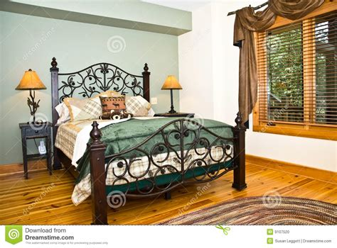 Rustic Decor Curtains Modern Bedroom Rustic Decor Stock Photo Image 9107520
