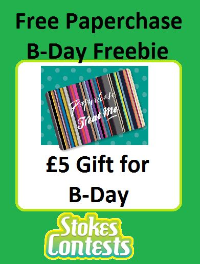 Paperchase Gift Card - stokes contests freebie free paperchase birthday gift