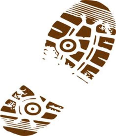 Eagle Sepatu Scout hiking boot footprint clipart search results project 4