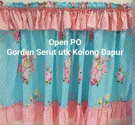 Serut Toska by Detail Produk Gorden Serut Kolong Dapur Flower Tosca Pink