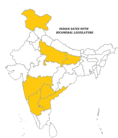 In India by State Legislature In India Bicameral Unicameral States
