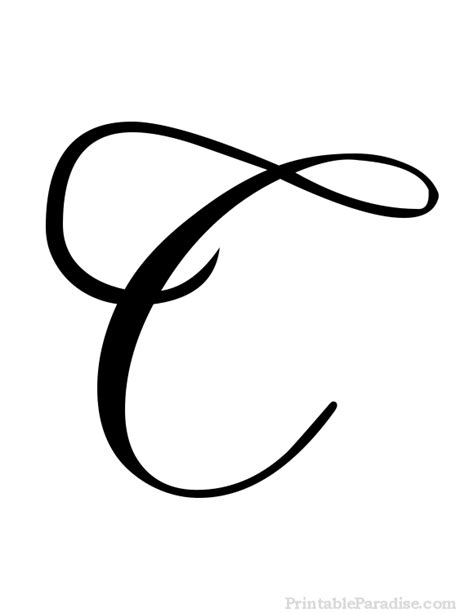 printable cursive letter c print letter c in cursive writing