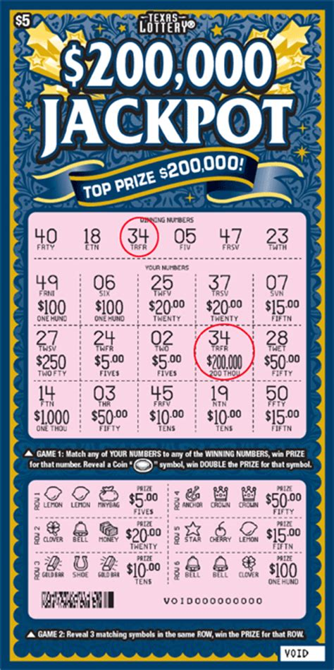 texas lottery scratch  details