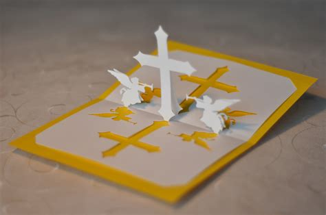 how to make pop up cards christian cross pop up card template