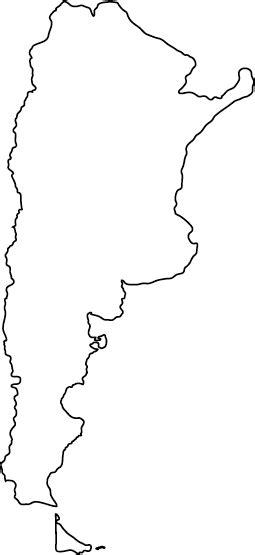 argentina outline map