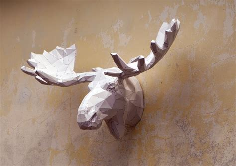 Papercraft Artists - make your own moose sculpture papercraft moose papercraft