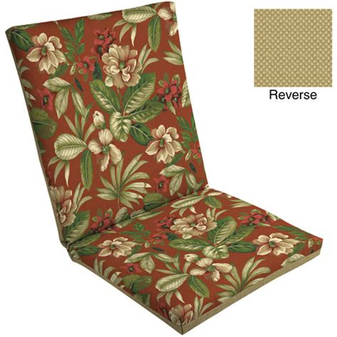 Walmart Chair Pads by Mainstays Outdoor Dining Chair Pad Tropical Walmart