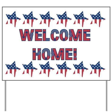 welcome home yard sign by puppybreath