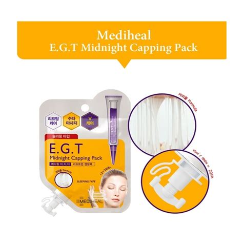 Mediheal Egt Midnight Capping Pack mediheal capping pack peel masks