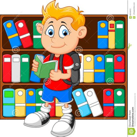 library clipart images boy in library stock illustration illustration of