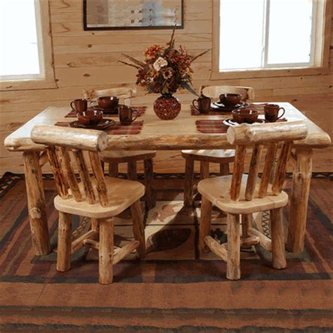 Log Dining Room Table Twist Of Nature Pine Log Dining Table