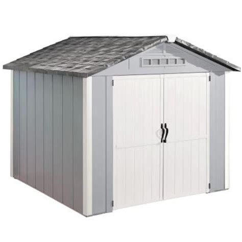 Vinyl Sheds Home Depot by Homestyles Premier 8 Ft X 8 Ft Vinyl Shed 73005125 The