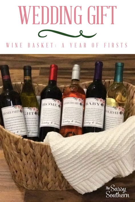Wedding Gift Ideas Wine by Wedding Gift Idea A Year Of Firsts Wine Basket The