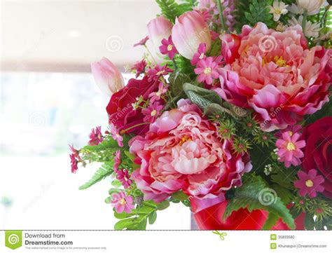 Home Decoration With Flowers by Flowers Bouquet Arrange For Decoration In Home Stock Photo