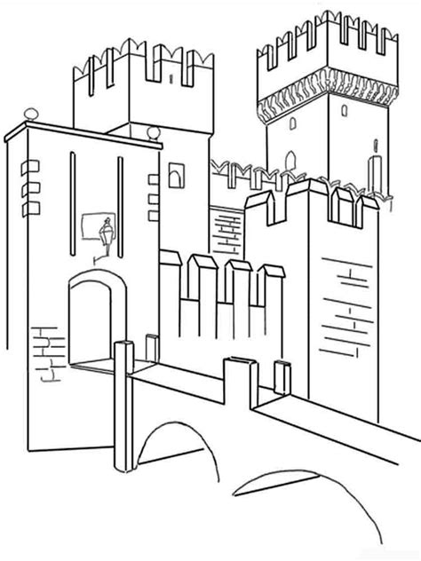 castle wall coloring page castle coloring pages download and print castle coloring
