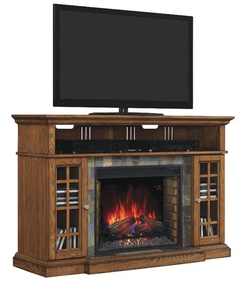Electric Fireplace And Media Mantel by 60 Quot Lakeland Premium Oak Media Mantel Electric Fireplace