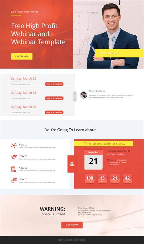 Download Free Amazing Webinar Registration Page Stealth Seminar Free Webinar Templates