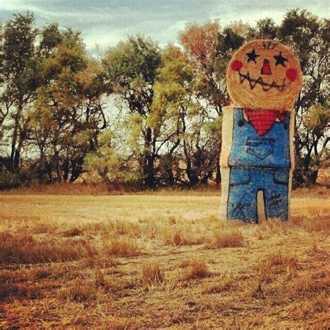 Fall Hay Decorations - hay bale art hay pinterest
